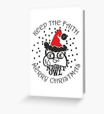 Northern Soul Merry Christmas Greeting Card