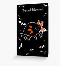 Happy Halloween - Black Axolotl  Greeting Card