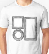 Set of  Different Wooden Frames Isolated on White Background T-Shirt