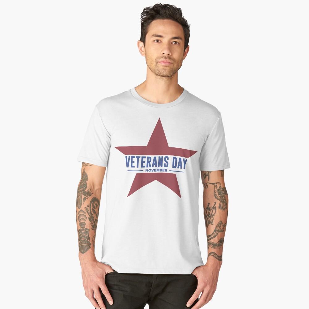 Veterans Day Commemorative Star Design Men's Premium T-Shirt Front