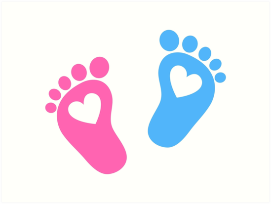 """Baby feet with hearts"" Art Print by boom-art 