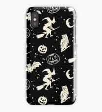 Bats & Jacks ~ Cream on Black iPhone Case/Skin