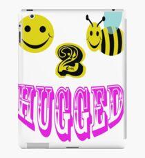 happy 2 bee hugged iPad Case/Skin