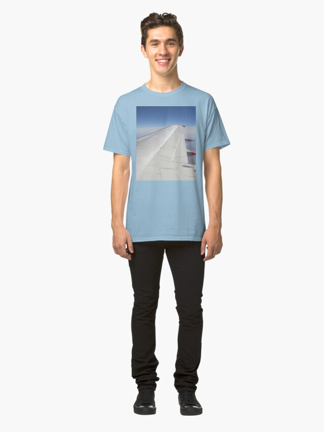 Alternate view of Jet Aircraft Wing In Flight Classic T-Shirt