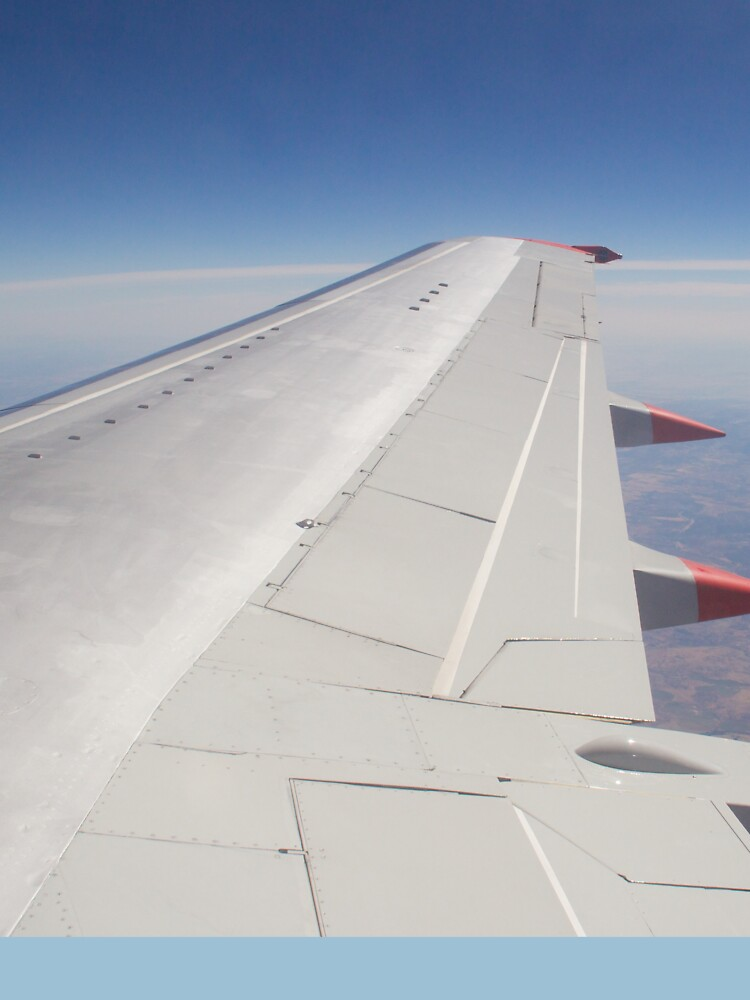 Jet Aircraft Wing In Flight by robcole