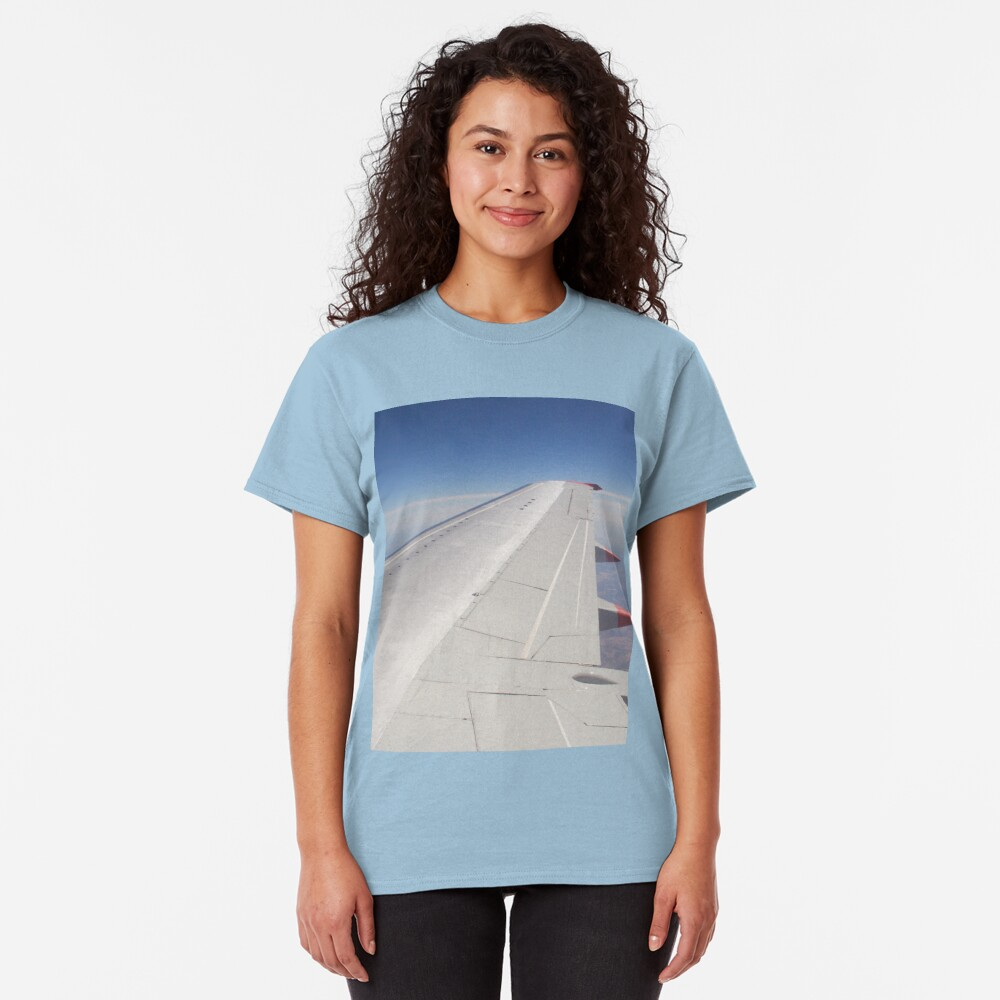 Jet Aircraft Wing In Flight Classic T-Shirt