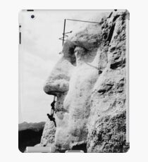 Construction at Mount Rushmore 1932  iPad Case/Skin