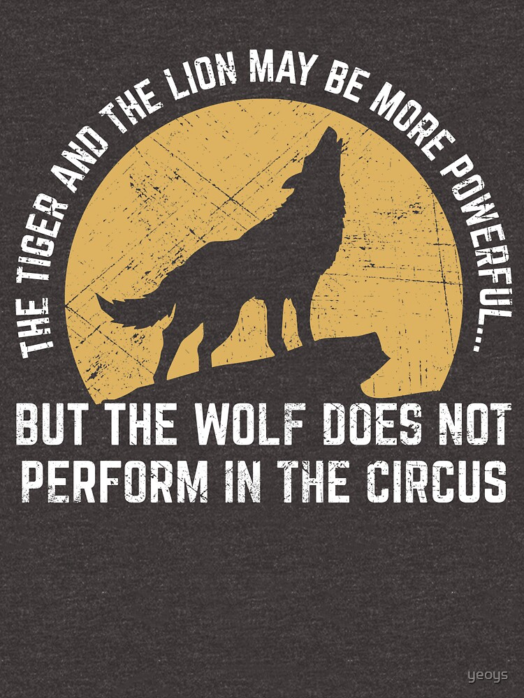 Powerful Wolf Does Not Perform In Circus von yeoys