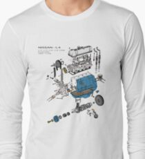 Nissan L4 Exploded View Long Sleeve T-Shirt