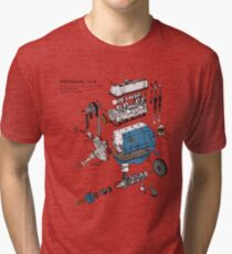 Nissan L4 Exploded View Tri-blend T-Shirt