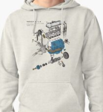 Nissan L4 Exploded View Pullover Hoodie