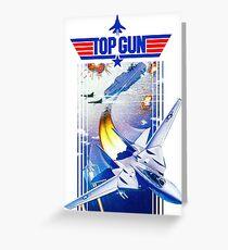 Top Gun NES Cover Art Greeting Card