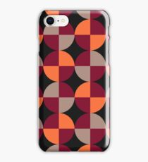 WineRed Squares iPhone Case/Skin