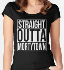 Straight Outta Mortytown Women's Fitted Scoop T-Shirt