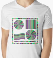 Colorful Frame and Circle Isolated on White Background T-Shirt
