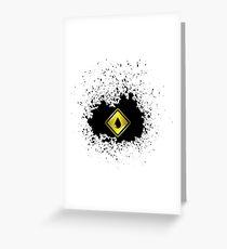 Yellow Oil Icon on Oil Blot. Oil Splash Isolated on White Background Greeting Card