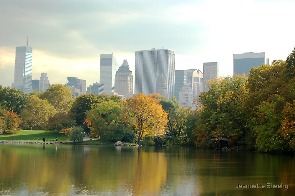 East Side from Central Park, NYC by Jeannette Sheehy