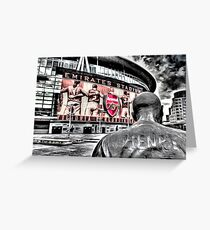 Thierry Henry Statue Emirates Stadium Art Greeting Card