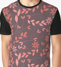 Elegant seamless pattern with plants, leaves and flowers Graphic T-Shirt