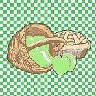 Basket of Granny Smith Apples & Pie by Abigail Davidson
