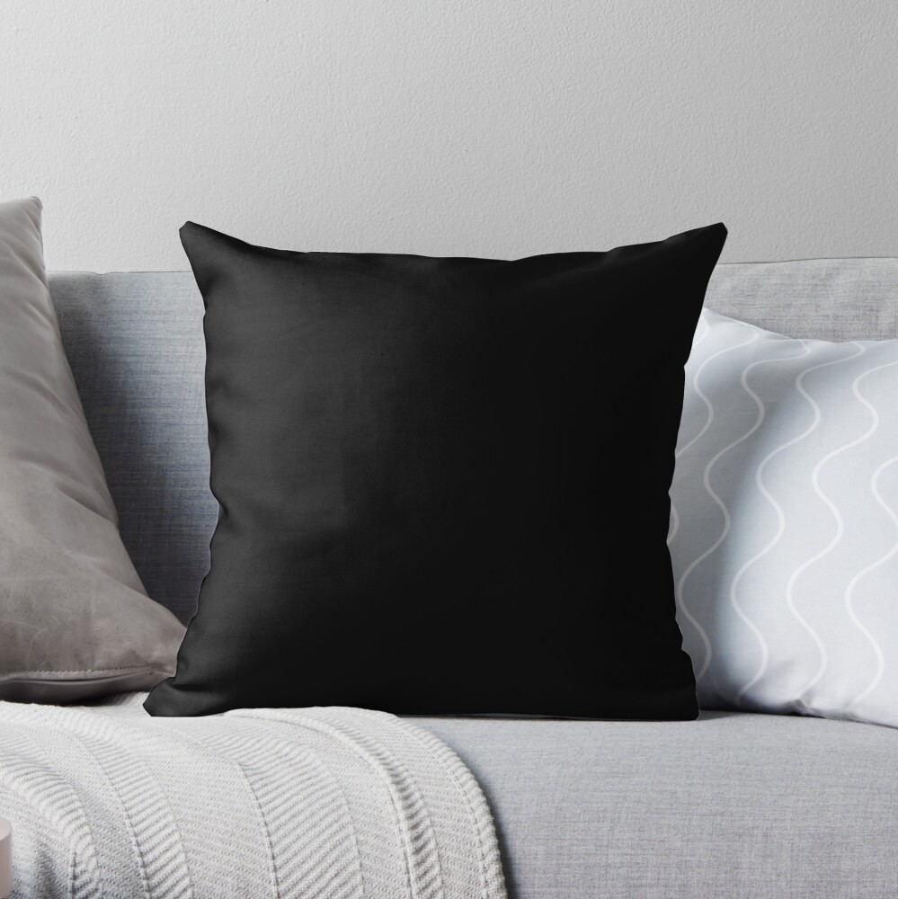 Ultimate Black Solid Color Throw Pillow