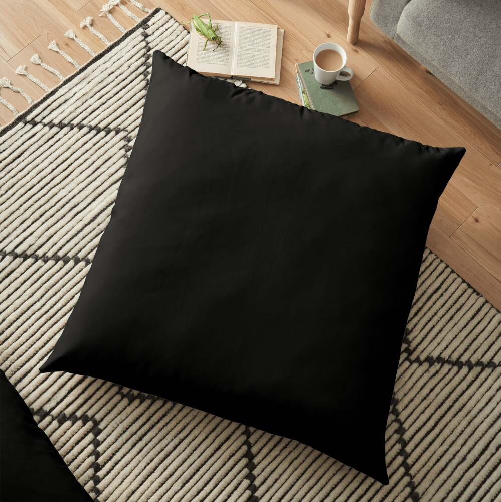 Ultimate Black Solid Color Floor Pillow