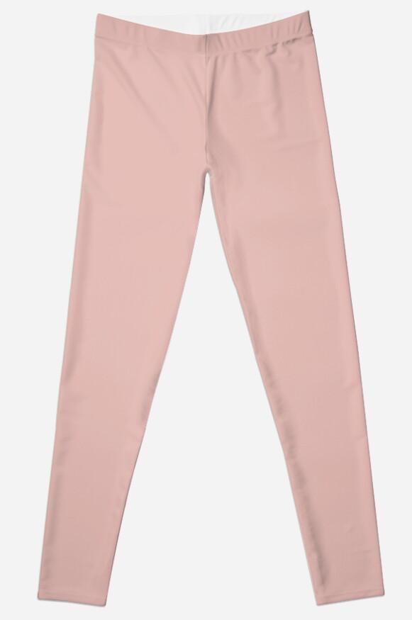 Legging «Color sólido de oro rosa» de rewstudio | Redbubble