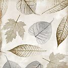 Gold Autumn Leaves Pattern II by mindydidit