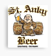 St. Anky Beer Canvas Print