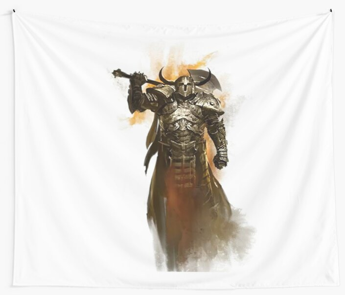 'Guild Wars 2 - Warrior' Wall Tapestry by MartaRomero