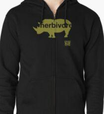 Herbivore Green Zipped Hoodie