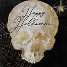 Gold Skull Happy Halloween by mindydidit