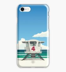 """Lifeguard Hut #4"" iPhone Case/Skin"