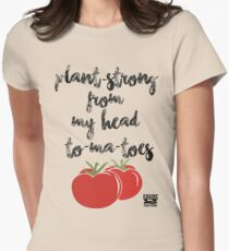 Plant-Strong From My Head To-Ma-Toes Women's Fitted T-Shirt