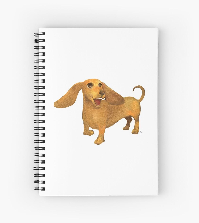 Jasper The Sled Dog Dachshund by Minted  Prose