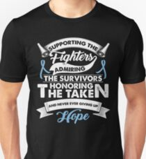 Supporting The Fighters Prostate Cancer T-Shirt Light Blue T-Shirt