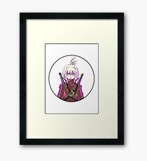 Manga warrior Girl Chibi  Framed Print