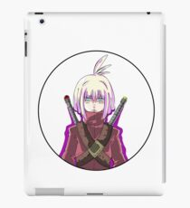 Manga warrior Girl Chibi  iPad Case/Skin