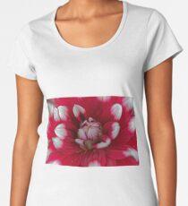Red and white Dahlia (Dahlia x hortensis) Women's Premium T-Shirt