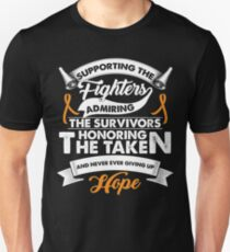 Supporting The Fighters Leukemia Cancer TShirt Orange Ribbon T-Shirt