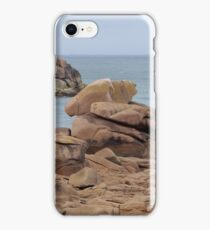 The pink granite coast in the North of Brittany, France. iPhone Case/Skin