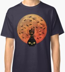 Haunted House with Blood Moon Classic T-Shirt