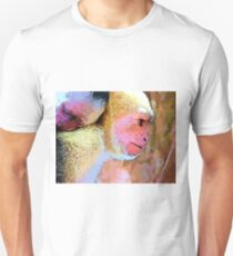 Mother Monkey with Baby Graphic Design-Wildlife Prints T-Shirt