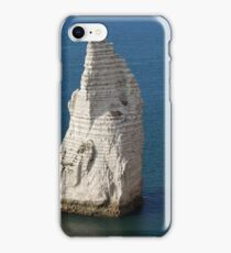 The coast at the Aval cliffs of Etretat iPhone Case/Skin