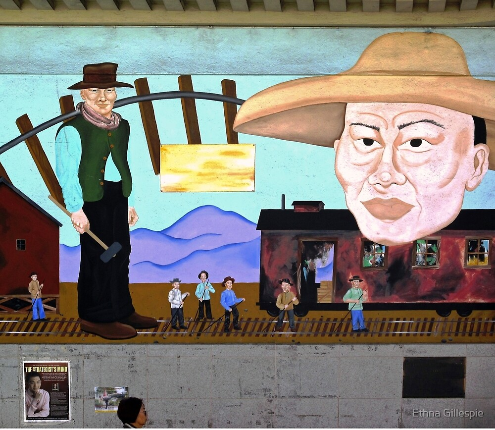Mural in Chinatown  by Ethna Gillespie