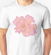 Pink Double Hibiscus  T-Shirt