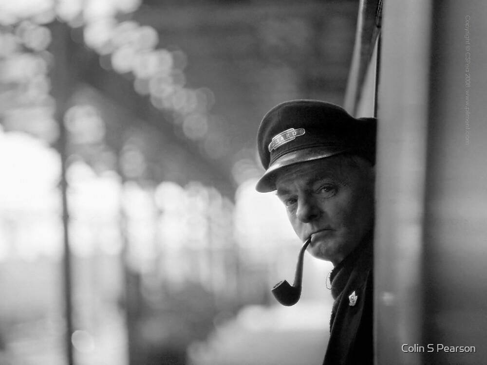 Train Guard And Tobacco-Pipe by Colin S Pearson