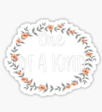 One Of A Kind - Cool Inspirational Typography Sticker