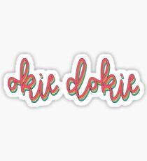 Retro Okie Dokie Sticker