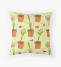 Venus Flytrap Throw Pillow